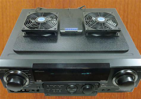av receiver cabinet system dual fan thermostat receiver amp megabase fans adjustable thermostat