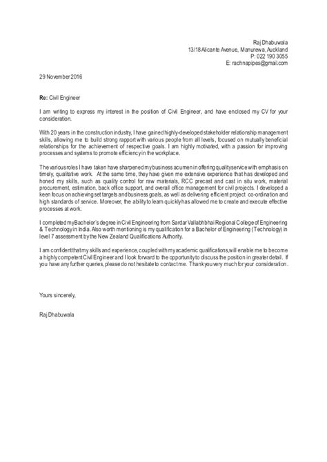 cover letter for civil engineer 28 images cover letter