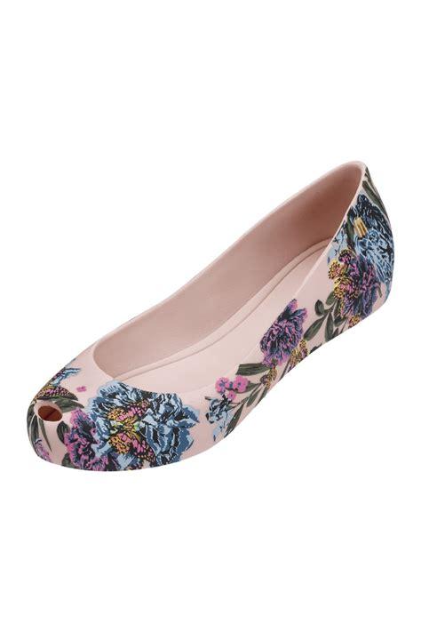 melissa ultragirl   floral print shoe  blush
