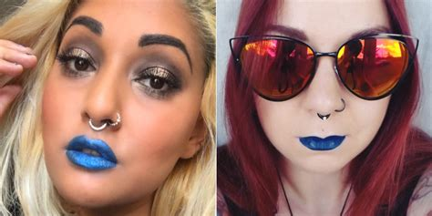Light Skin With Blue by Vegan Blue Lipsticks Reviewed On Light And Skin Tones
