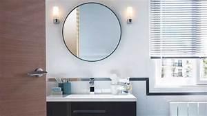 Rondeur et elegance dans la salle de bains for Miroir rond de salle de bain