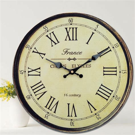 home decor clock antique clock wall rustic vintage style wooden
