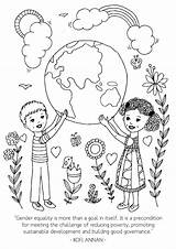 International Activities Printables Poverty Coloring Printable Template Equality Womens Gender Momentsaday Children Toddler sketch template