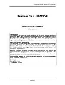 Writing A Resume For A Business Plan by Business Plan Sle Free Resume Exles