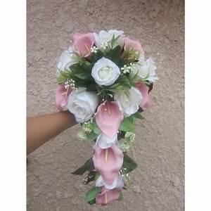 Bouquet De Mariage : bouquet de mariage avec des arums roses et des roses blanches bouquet de la mariee ~ Preciouscoupons.com Idées de Décoration