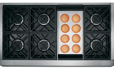 ge monogram zgundpss   stainless steel gas sealed burner style cooktop appliances