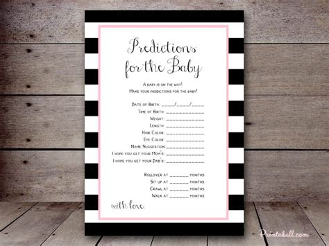 baby predictions printabell create
