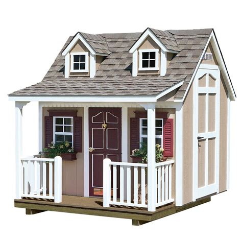 Backyard Cottage Playhouse - homeplace structures 8 ft x 9 ft backyard cottage