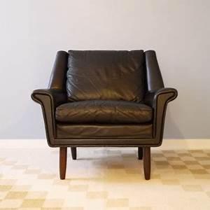 fauteuil vintage danois cuir la maison retro With fauteuil cuir design scandinave