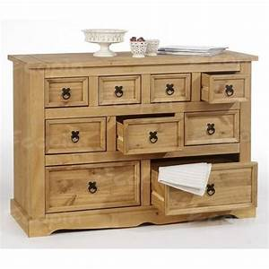 Commode Apothicaire En Pin Massif Cire