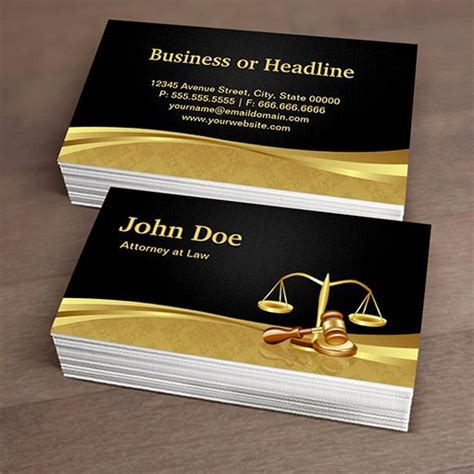 lawyer business cards free templates attorney lawyer justice black gold damask business