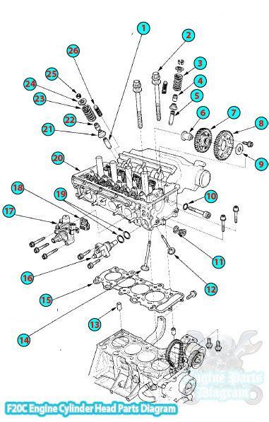 Honda Cylinder Head Parts Diagram Engine