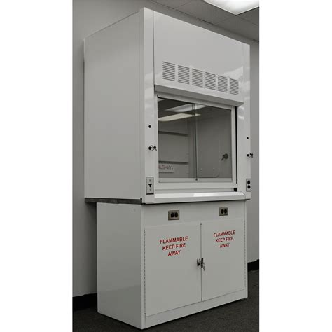 fume hood base cabinet 4 chemical fume hood w flammable base cabinet new nls 402
