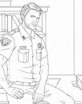 Coloring Pages Adult Male Uniform Drawing Woman Books Police Getdrawings Getcolorings Printable Trend Colorings sketch template