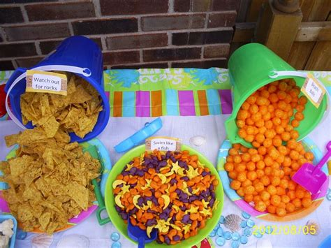 Pumpkin Contest Winners by Pool Party Food Doritos Gold Fish Cheese Puffs Nemo