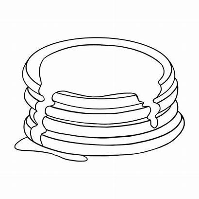 Pancakes Draw Drawing Pancake Easy Easydrawingguides Drawings