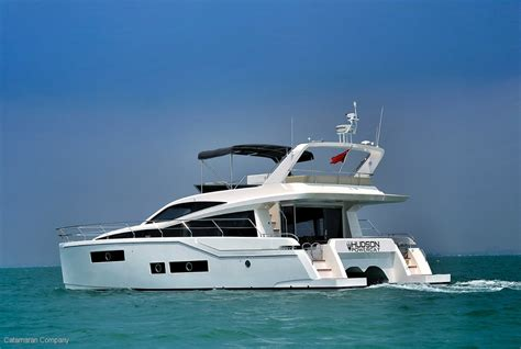 Catamaran Power Boats For Sale by New Hudson 48 Power Catamaran Boat Show For Sale