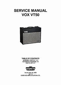 Vox Vt50 Service Manual Download  Schematics  Eeprom