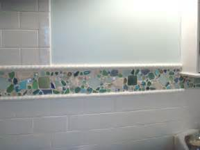 subway tile ideas bathroom sea glass backsplash 1 sea glass tile kitchen