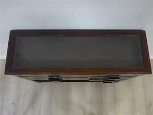 Petit Meuble Vitrine : petit meuble console formant vitrine plate de ~ Melissatoandfro.com Idées de Décoration