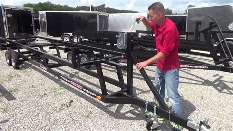 Pontoon Boat Without Trailer by Wolverine Crank Up Pontoon Trailer
