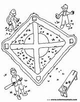 Baseball Field Coloring Pages Maze Drawing Activity Sheet Getdrawings sketch template