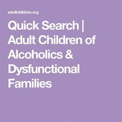Dysfunctional Adult Children Alcoholics Families Meeting Quick