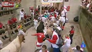 Pamplona bull run 2013: Shocking video shows crush outside ...