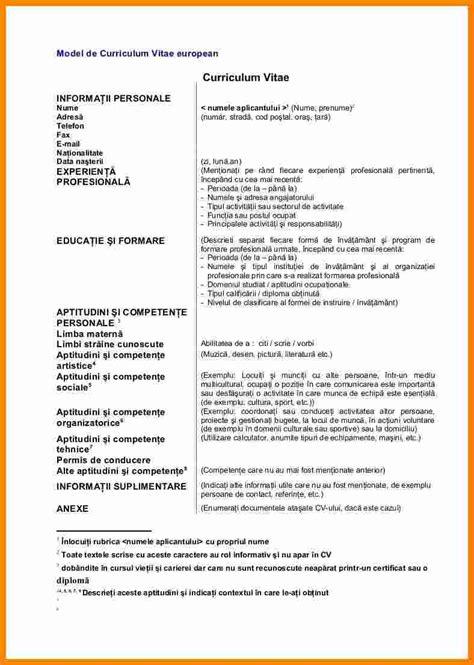Format De Cv by 5 Curriculum Vitae Exemplu Theorynpractice