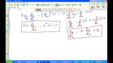 Solving Differential Equation 2xy(dy/dx)
