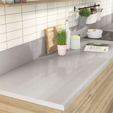 plan de travail cuisine stratifié leroy merlin plan de travail stratifié gris métal brillant l 300 x p 65
