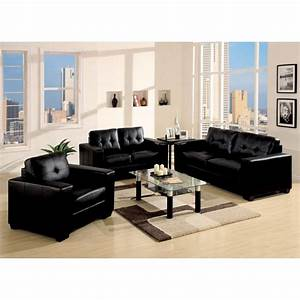 Black leather living room furniture xvsbwirz decorating for Decorate living room black leather furniture