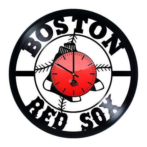 boston red sox fans boston red sox jersey handmade vinyl record wall clock fan
