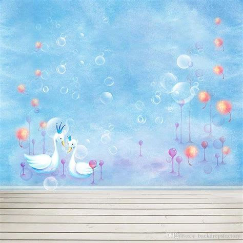 Baby Hintergrund Neutral by Baby Newborn Sky Blue Photo Booth Background Bubbles Swans