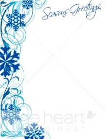 christmas wedding programs blue snowflake border winter borders
