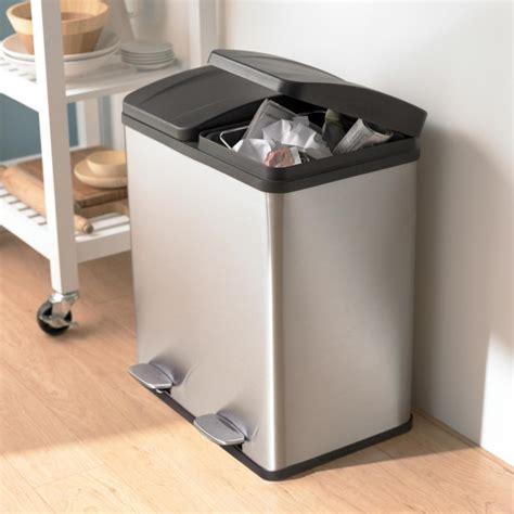bin steel kitchen compost ksp duplex garbage recycling can kitchen