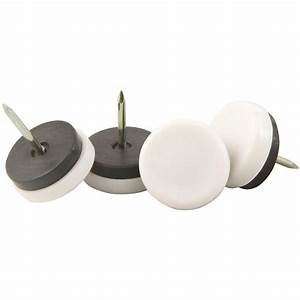 Shepherd 1 1 2 in threaded stem furniture glides with for Furniture leg pads home depot