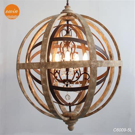 Wood Orbit Chandelier by Antique Lighting Globe Wooden Chandelier Pendant