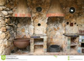 rustic outdoor kitchen stock image image 2235731 - Rustic Cabin Kitchen Ideas
