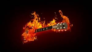 Fire Guitar Stock Footage Video 1275790