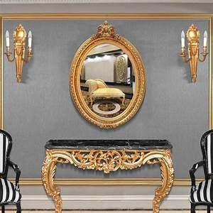 Miroir Style Baroque : grand miroir ovale baroque de style louis xvi ~ Teatrodelosmanantiales.com Idées de Décoration