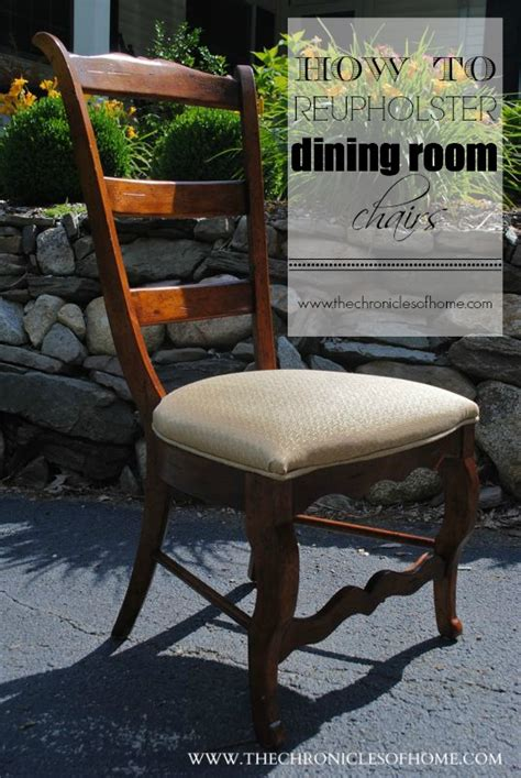 tutorial how to recover dining room chairs