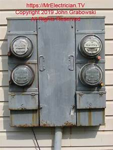 Rusted Four Gang Electric Meter Base