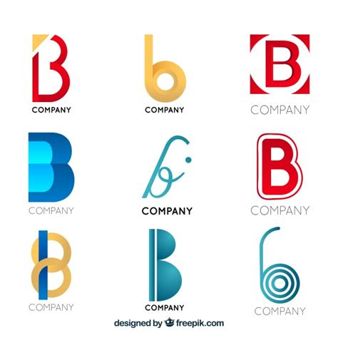 Colección De Logos Modernos De La Letra B