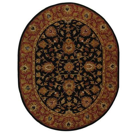 oval area rugs safavieh heritage black 5 ft x 7 ft oval area rug