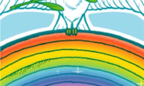 coloriage arc en ciel sur hugolescargot