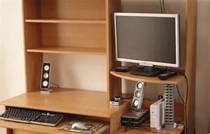 Bureau Pour Ordinateur Fixe : bureau meuble ordinateur angle clasf ~ Teatrodelosmanantiales.com Idées de Décoration