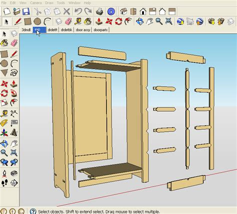 sketchup woodworking plans     furniture
