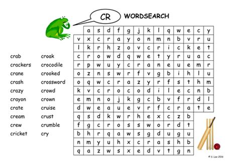 Cr Blends Worksheets By Jamakex