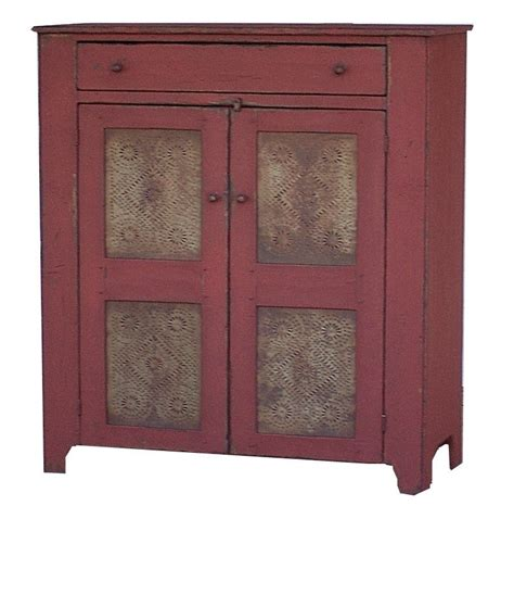 Primitive Cabinet by Primitive Pie Safe Painted Country Jelly Cupboard Cabinet
